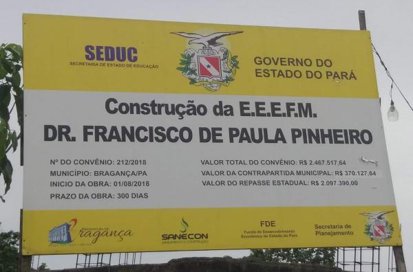 Escola Estadual Paula Pinheiro está abandonada há mais de 2 anos em Bragança.