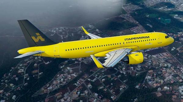 Avião da Itapemirim chega ao Brasil para início das operações da nova aérea