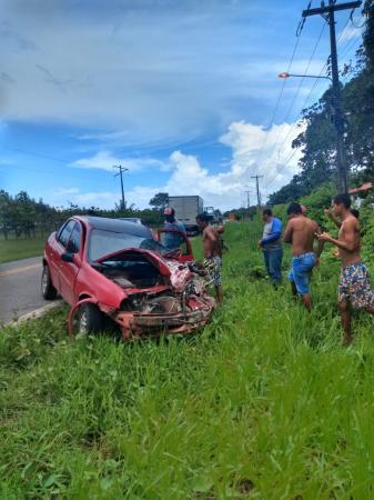 Imprudência termina em acidente na BR 308, sentido Bragança-Capanema